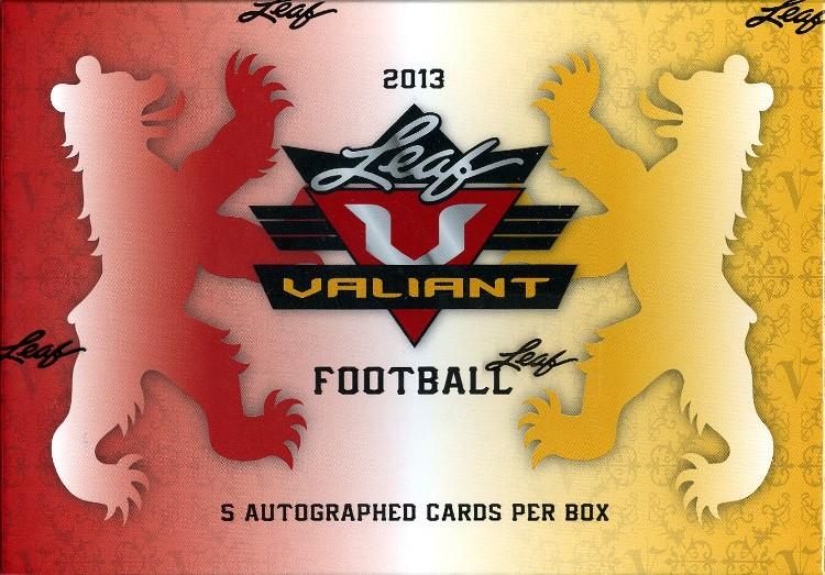 2013 Leaf Valiant Football Hobby 12 Box Case