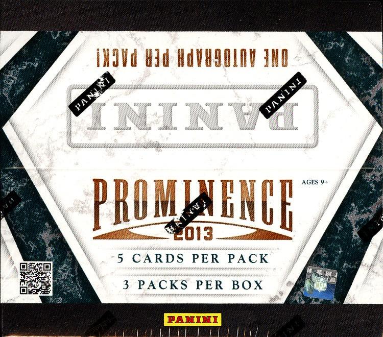 2013 Panini Prominence Football Hobby 15 Box Case