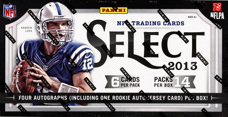 2013 Panini Select Football Hobby 12 Box Case