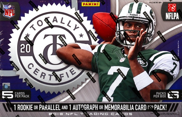 2013 Panini Totally Certified Football Hobby 12 Box Case