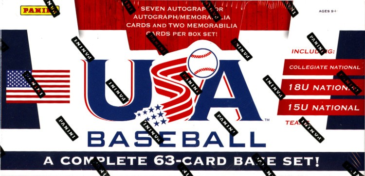 2013 Panini USA Baseball Set Box