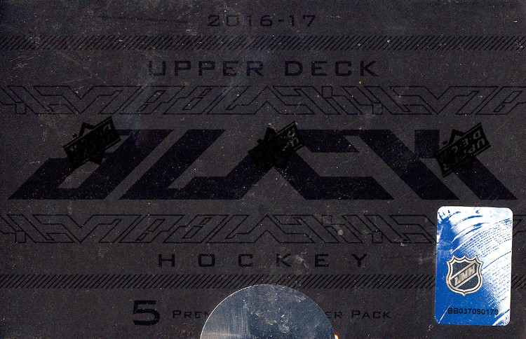2016/17 Upper Deck Black Hockey Hobby Box