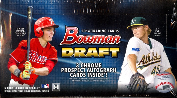 2016 Bowman Draft Baseball Jumbo Box