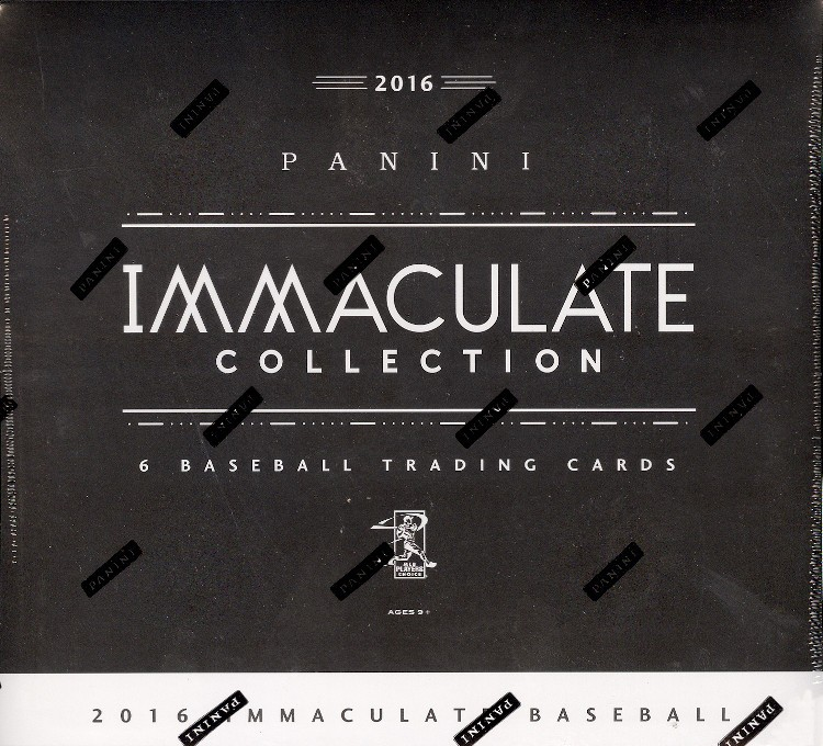 2016 Panini Immaculate Baseball Hobby Box