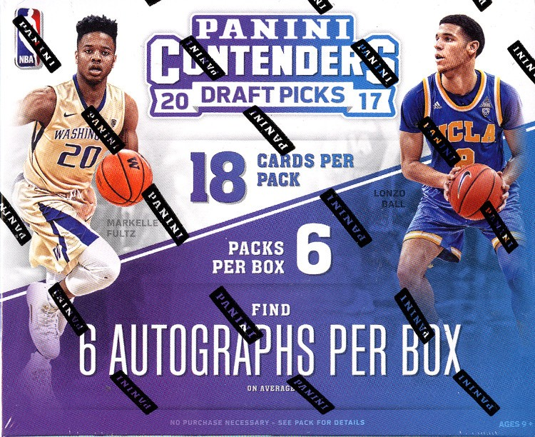 2017/18 Panini Contenders Draft Basketball Hobby Box