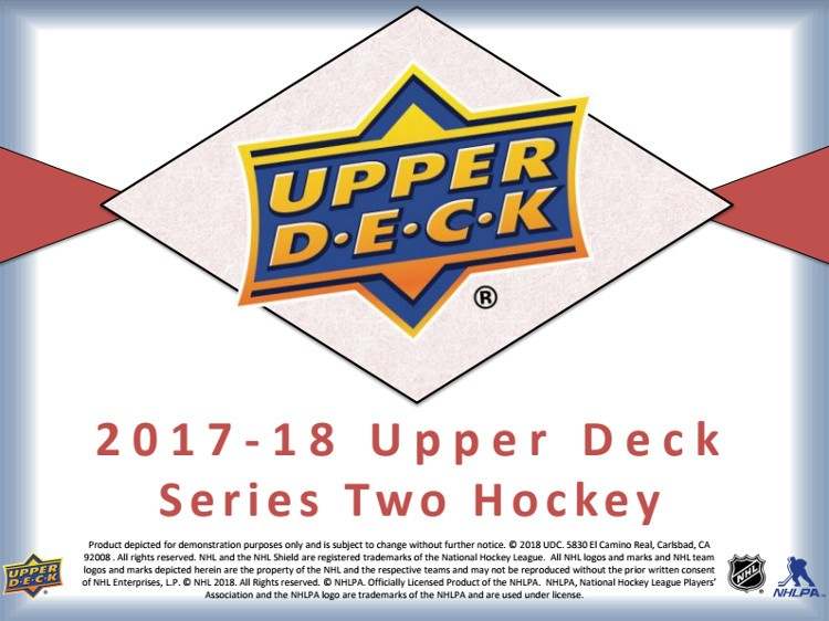 2017/18 Upper Deck Series 2 Hockey Hobby 12 Box Case