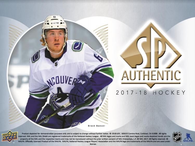 2017/18 Upper Deck SP Authentic Hockey Hobby 8 Box Case