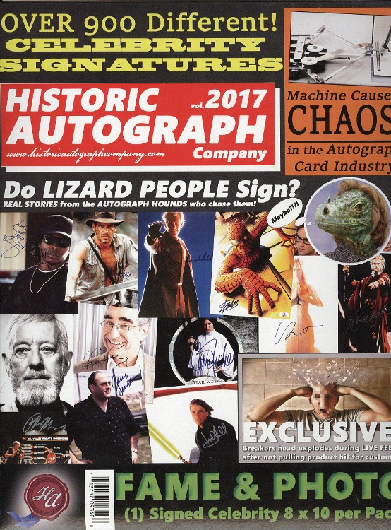 2017 Historic Autographs Fame & Photo Signed 8x10 Box