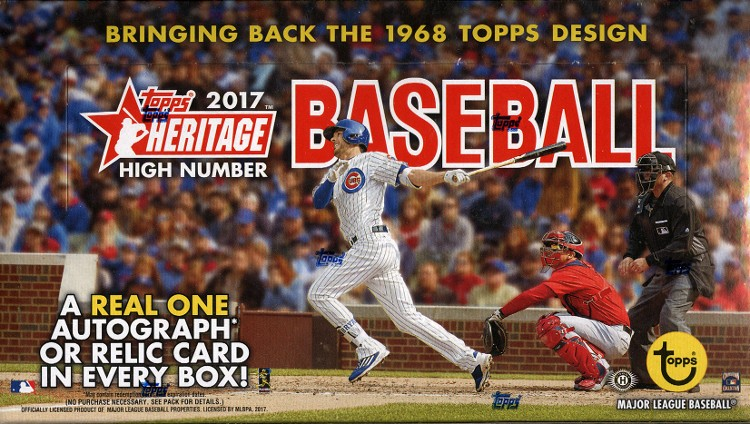 2017 Topps Heritage High Number Baseball Hobby Box
