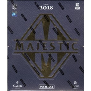 2018 Panini Majestic Football Hobby 6 Box Case