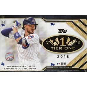2018 Topps Tier One Baseball Hobby 12 Box Case