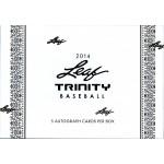 2014 Leaf Trinity Baseball Hobby Box