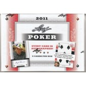 2011 Leaf Poker Hobby 12 Box Case