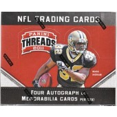 2011 Panini Threads Football Hobby 12 Box Case