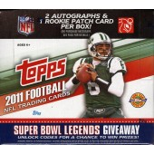 2011 Topps Football Jumbo (HTA) 6 Box Case