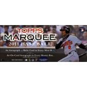 2011 Topps Marquee Baseball Hobby 6 Box Case