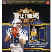2011 Topps Triple Threads Football Hobby 18 Box Case