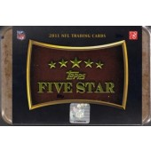 2011 Topps Five Star Football Hobby 3 Box Case