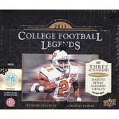 2011 Upper Deck College Legends Football Hobby 12 Box Case