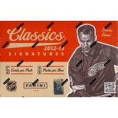 2012/13 Panini Classics Signatures Hockey Hobby 12 Box Case
