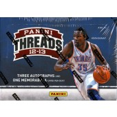 2012/13 Panini Threads Basketball Hobby 12 Box Case