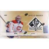 2012/13 Upper Deck SP Authentic Hockey Hobby 12 Box Case