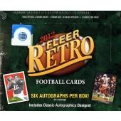 2012 Fleer Retro Football Hobby 6 Box Case