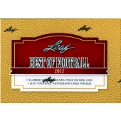 2012 Leaf Best of Football Hobby 3 Box Case
