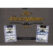 2012 Leaf Inscriptions Hobby 12 Box Case
