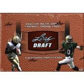 2012 Leaf Metal Draft Football Hobby 12 Box Case