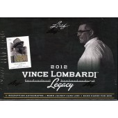 2012 Leaf Vince Lombardi Legacy Hobby Box