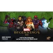 2012 Marvel Beginnings III TC Hobby 12 Box Case