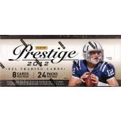 2012 Panini Prestige Football Hobby 12 Box Case