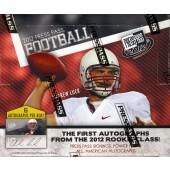2012 Press Pass Football Hobby 10 Box Case