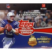 2012 Topps Football Jumbo HTA Hobby Box