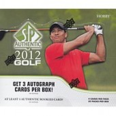 2012 Upper Deck SP Authentic Golf Hobby 12 Box Case