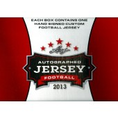 2013 Leaf Autographed Football Jersey Ed Football 6 Box Case
