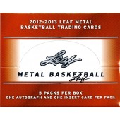 2012/13 Leaf Metal Basketball Hobby 8 Box Case