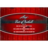 2013 Leaf Best of Football Hobby Box