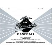 2013 Leaf Memories Baseball Hobby 12 Box Case