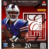 2013 Panini Elite Football Hobby 12 Box Case