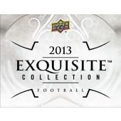 2013 Upper Deck Exquisite Football Hobby Box