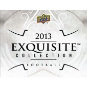 2013 Upper Deck Exquisite Football Hobby 3 Box Case