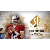 2013 Upper Deck SP Authentic Football Hobby 12 Box Case