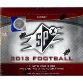 2013 Upper Deck SPX Football Hobby 16 Box Case