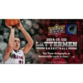 2014/15 Upper Deck Letterman Basketball Hobby 12 Box Case
