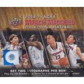 2014/15 Upper Deck NCAA March Madness Basketball Hobby 12 Box Case