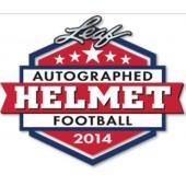 2014 Leaf Autographed Full Sized Helmet Football 3 Box Case