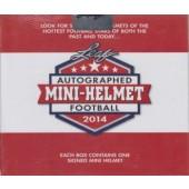 2014 Leaf Autographed Mini Helmet Football 8 Box Case