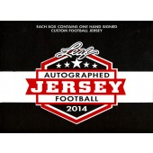 2014 Leaf Autographed Football Jersey Edition Football 6 Box Case